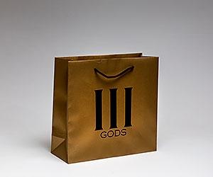 крафт пакет из крашеного в золото крафта