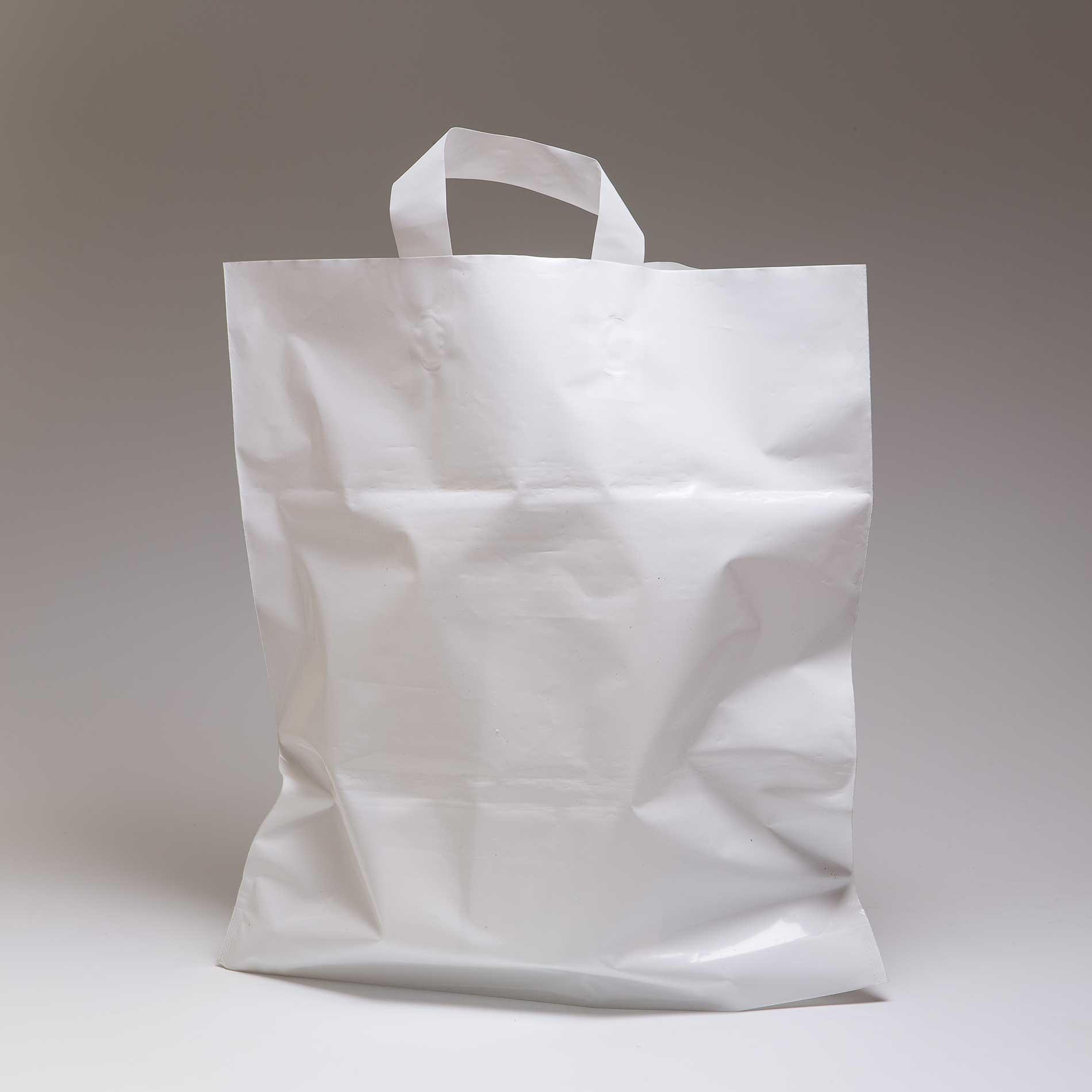 Пакет с петлевой ручкой белый.
